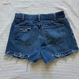 High waisted distressed cutoff jean shorts size 32